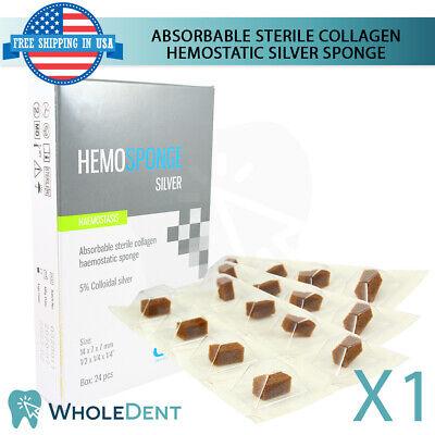 Dental Hemosponge Absorbable Silver Sponge Gelfoam Cubes Sterile Surgical