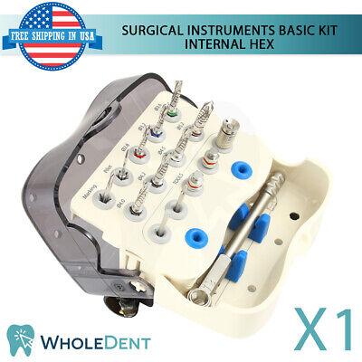 Surgical Basic Kit Dental Implant Abutment Universal Drill Tools Internal Hex