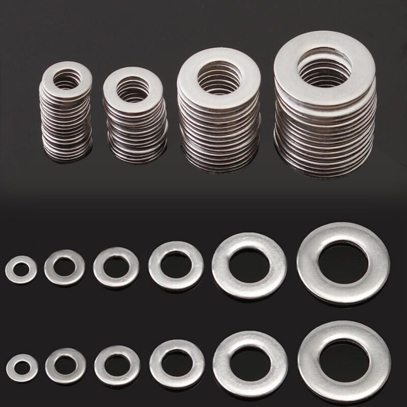 105pcs 304 Stainless Steel Washers Metric Flat Washer Assort