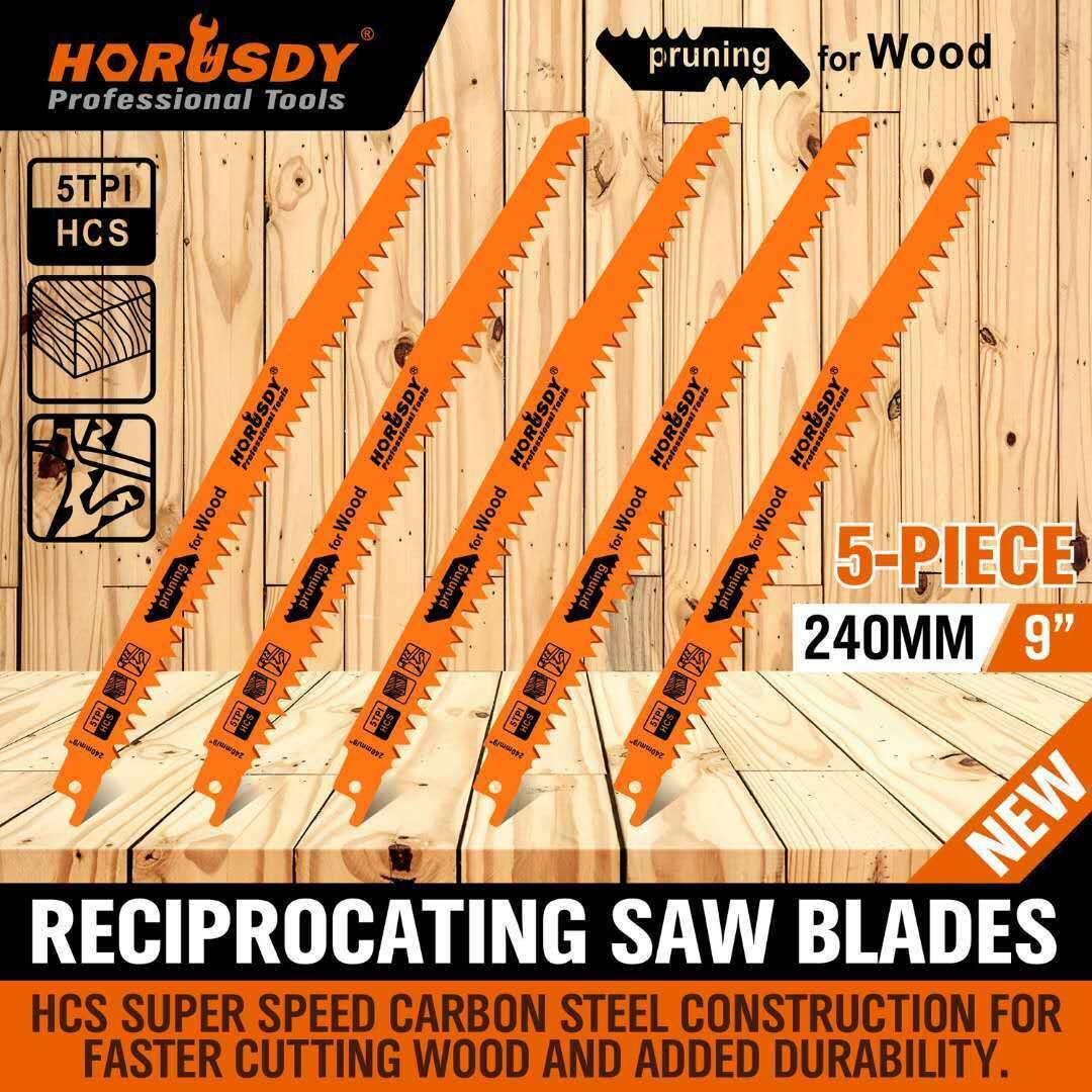 "9"" Reciprocating Saw Blades / 5 Piece Set Electric Wood Prun"