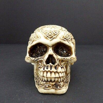 Skull Head Figurine Small Celtic Knot Halloween Decoration Statue New 3