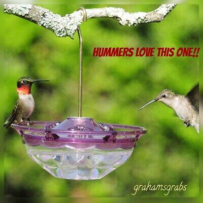 HummBlossom CUTEST HUMMINGBIRD Feeder PLUM  4 OZ. HUMMERS LOVE IT!! MADE IN USA