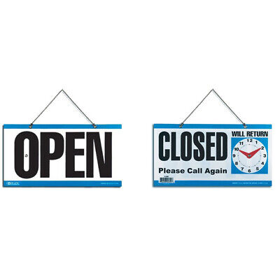 2 Pack Double Sided Open Closed Will Return Sign With Clock 6 X 11.5