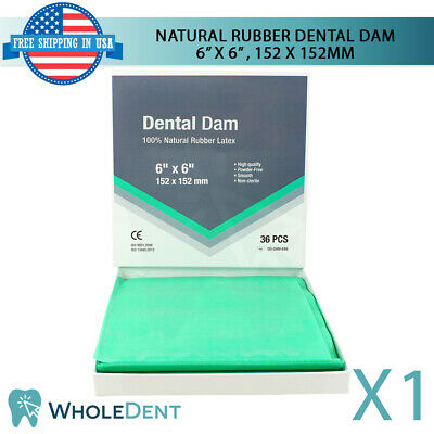 Rubber Dam Dental Sheet Natural Latex 6 X 6 152 X 152mm Dentist Isolation