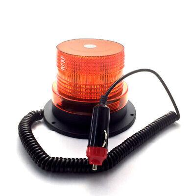 Rotativo LED Luz de Emergencia FLASH STROBE Faro Intermitentes Lámpara 12V Ámber