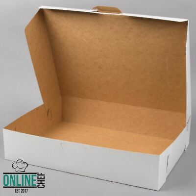 50case Bundle 19 X 14 X 4 White Half Sheet Cake Cupcake Donut Bakery Box