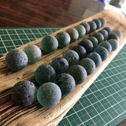 Natural Sea Glass Beach Glass Ball 30 pieces Genuine Japan Surf-Tumbled
