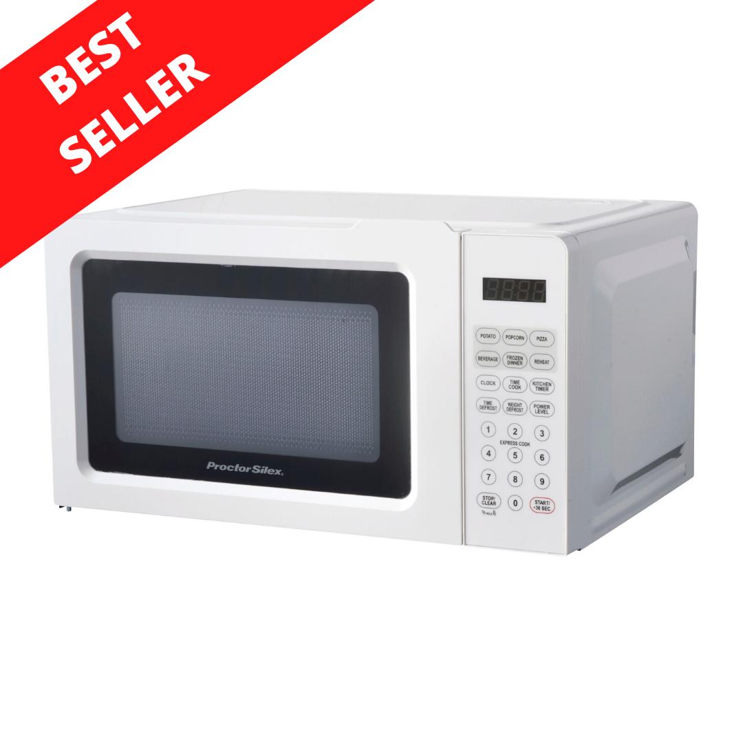 Countertop Proctor Silex 0.7 Cu.ft White Digital Microwave O
