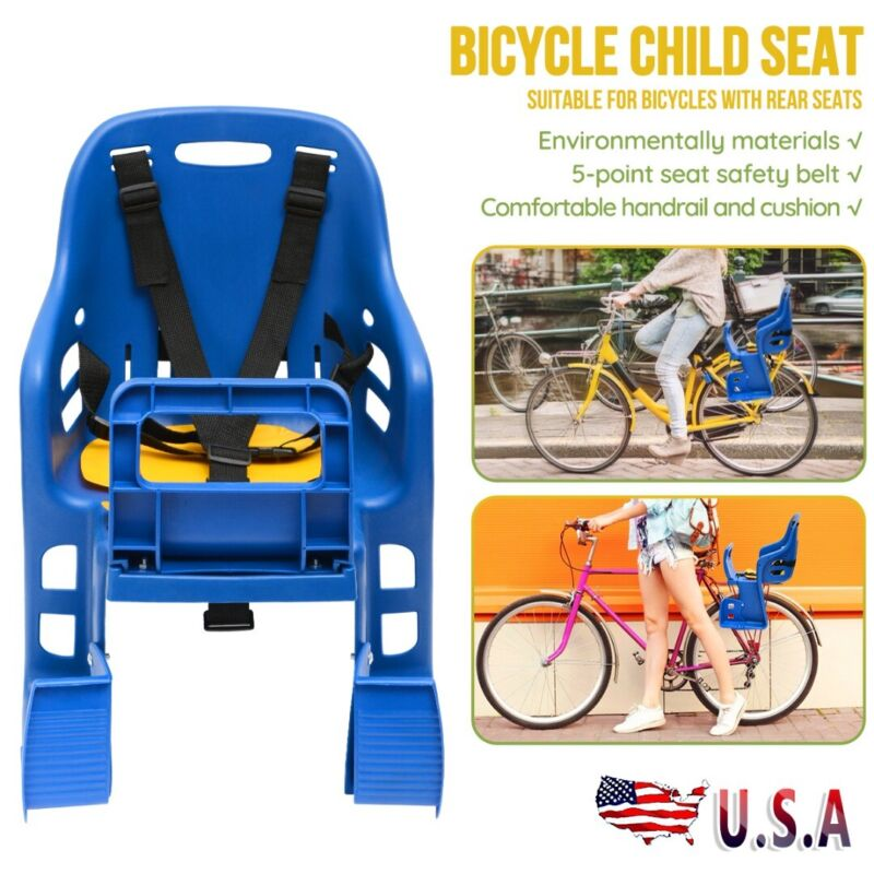 Bicycle Chair Child Kids Back Baby Seat Bike Carrier With Ha