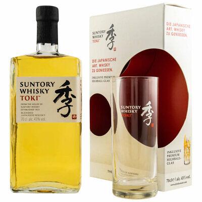 Suntory Toki Japanese Whisky Geschenkset mit Glas - 43 % Vol./ 0,7 Liter