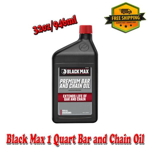 Black Max 1 Quart Premium Bar and Chain Oil 32oz and 946ml for All Chainsaws