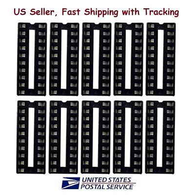 10pcs 20 Pin Dip Ic Sockets Adaptor Solder Type Socket - Us Seller Fast Shipping