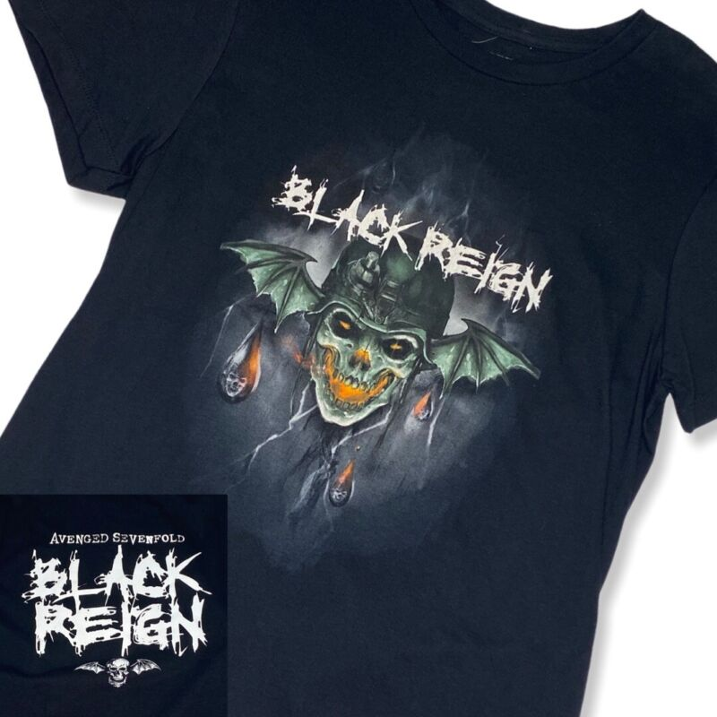 NEW Avenged Sevenfold Black Reign SMALL Shirt Licensed 2-Sided 2018 Metal A7X