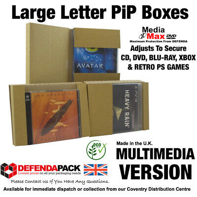 15 Royal Mail LARGE LETTER Posting Cardboard Shipping BOXES PiP Postal DVD XBOX