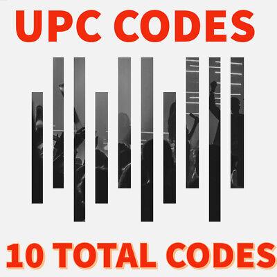 Upc Codes Barcodes Private Label Upc Codes 10 Codes