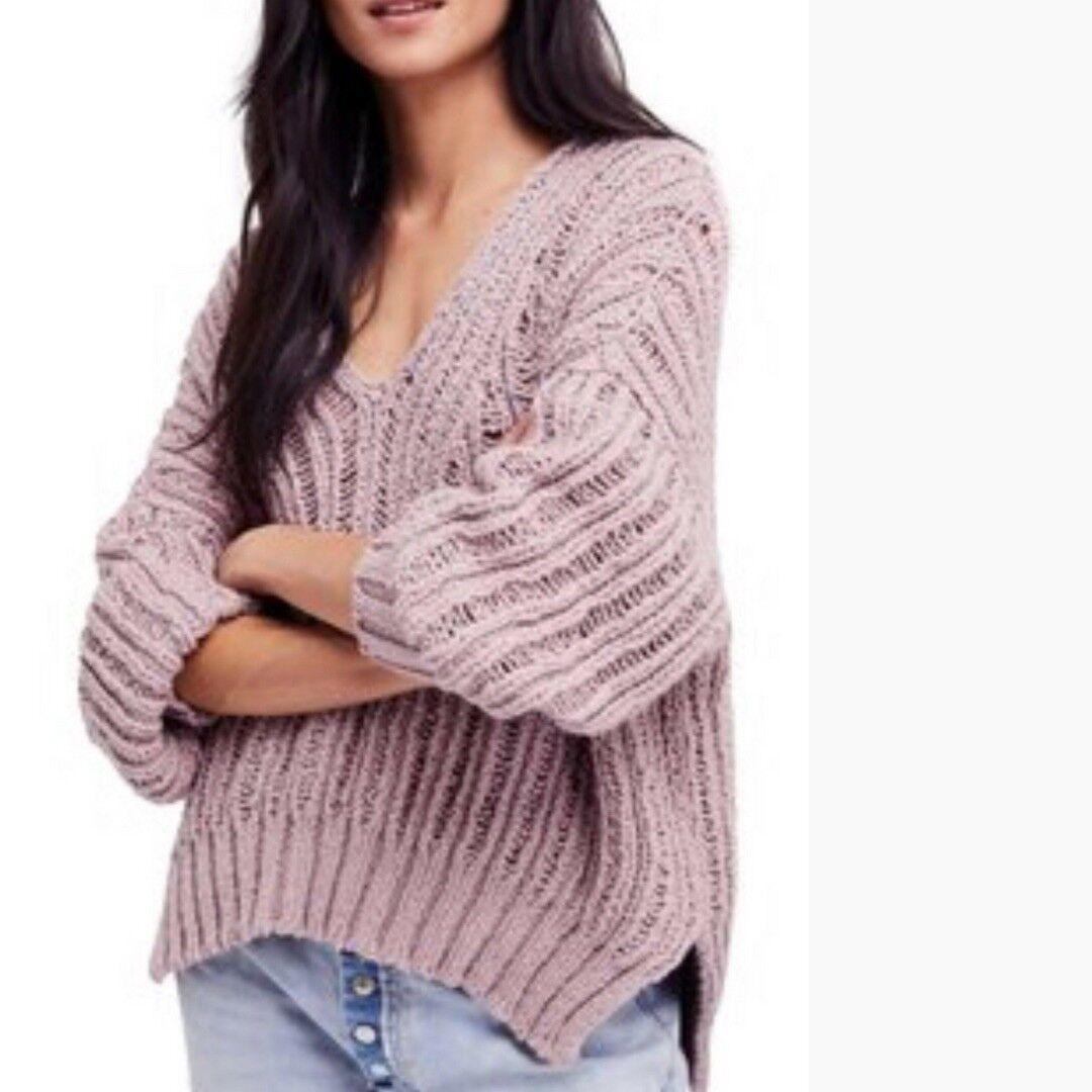 NWT Free People Infinite V neck Sweater Retail $128
