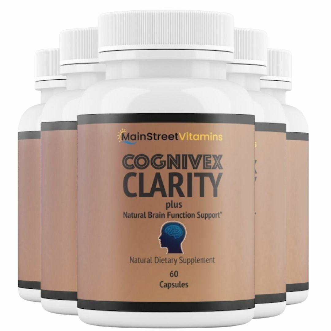 5 Bottles Cognivex Clarity Plus Brain Health - Advanced IQ Brain - 60 Capsules
