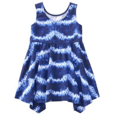 NWT Gymboree Girl Size 2T 3T 4T 5T TRUE BLUE SUMMER Handkerchief Dress NEW ](Size 2t 3t)