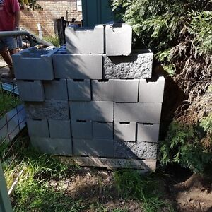 Retaining wall blocks and fixing steel. New Lambton Heights Newcastle Area Preview