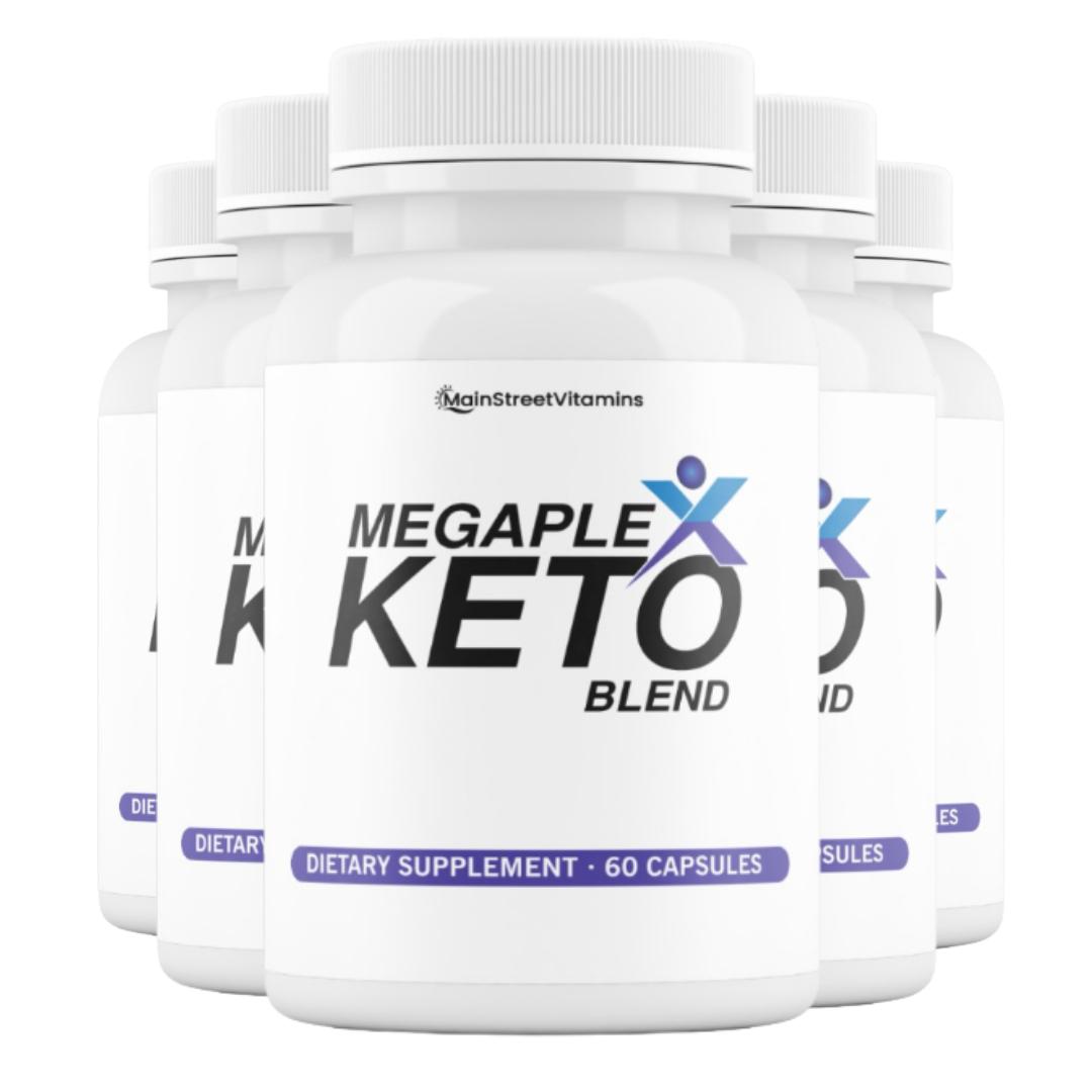 5 Bottles MegaPlex Keto Blend BHB LOSE WEIGHT BURN FAT NATURALLY - 60 cap