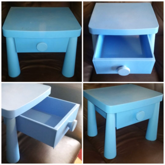 Bright blue bedside table PICKUP MORPHETT VALE  Morphett Vale Morphett Vale Area Preview