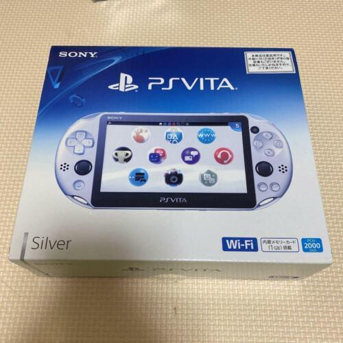 PlayStation+Portable+PS+Vita+PCH-2000+ZA25+Silver+Console+Wi-Fi+model+SONY