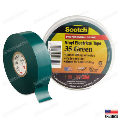 3m 35 Scotch Vinyl Electrical Color Coding Tape 34 In X 66 Ft Green
