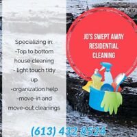 Jo's Swept Away Residential Cleaning