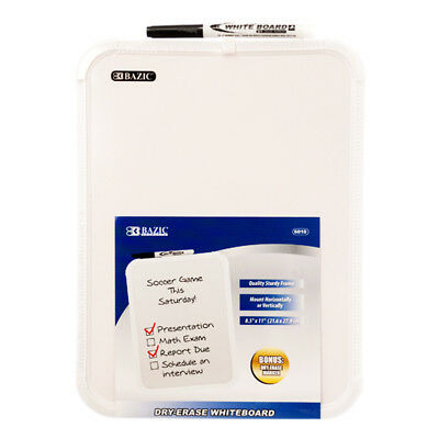 Bazic 8.5 X 11 Small Dry Erase White Board With Marker Note Study Class Student