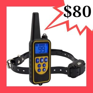 800M RECHARGEABLE 4 IN 1 DOG REMOTE TRAINING ANTI BARK ELECTRIC COLLAR