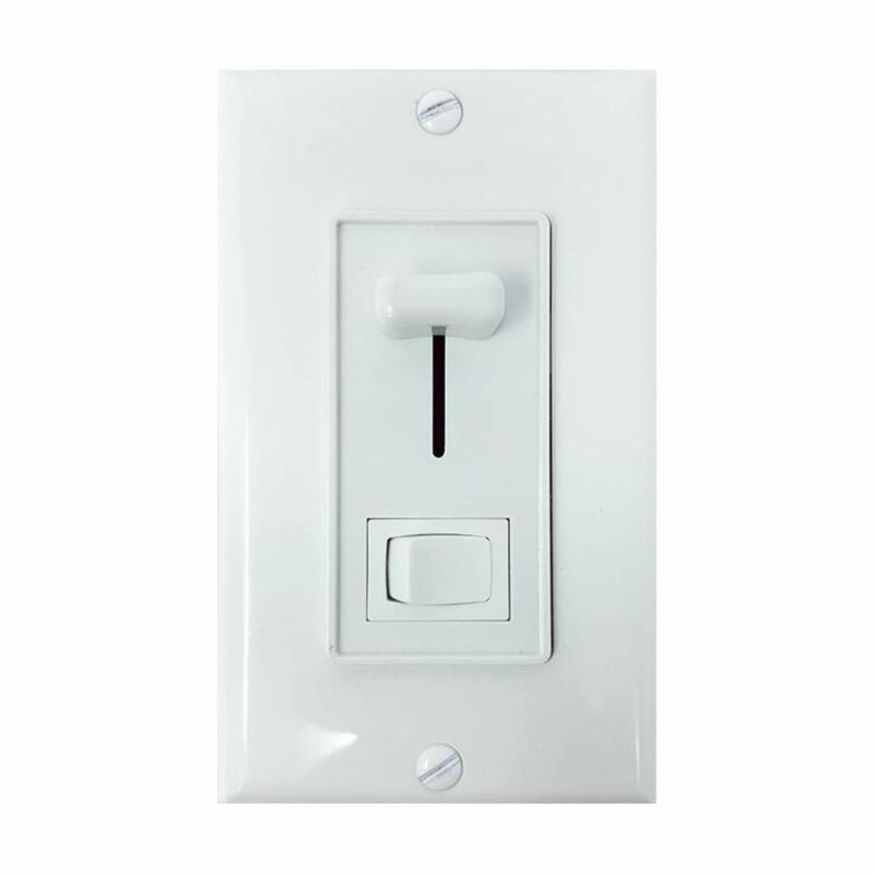 Light Dimmer Switch for LED, Incandescent, Halogen, or CFL Lamps - w/ Wall Plate
