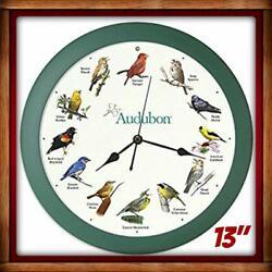 Audubon SINGING BIRD CLOCK w/ Light Sensor Wild Birds Songs 13 - Mark Feldstein