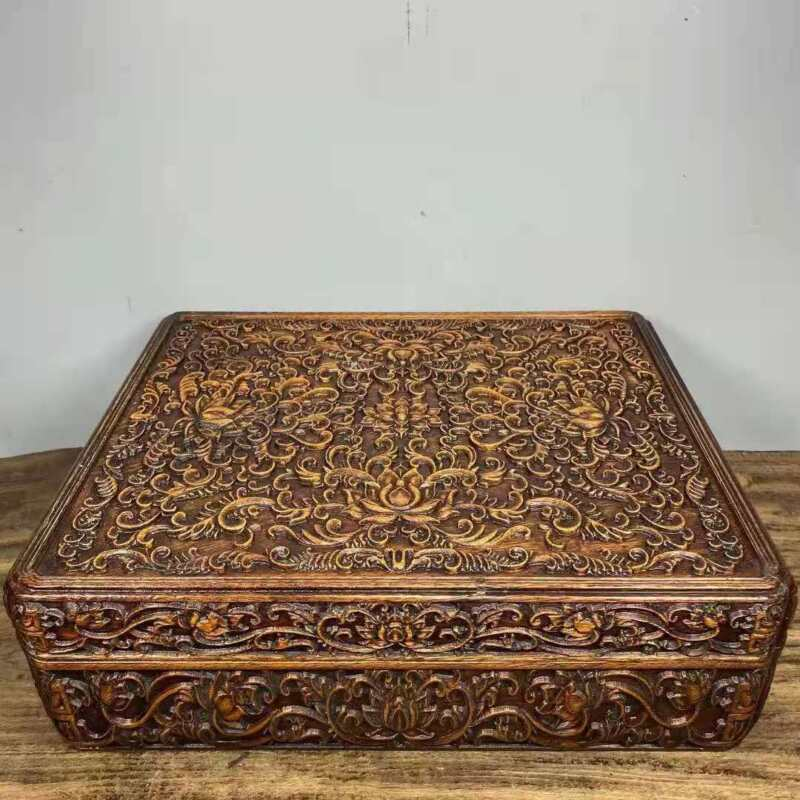 Chinese Natural  Rosewood Hand carved Exquisite Box 6224