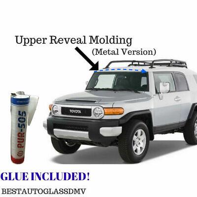 New 2007-2014 Toyota FJ Cruiser White Upper Top Windshield Reveal Molding W Glue