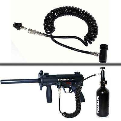 Paintball Coiled Remote Air Tank Line Hose For tippmann a5 accessories upgrades  Paintball Coiled Remote