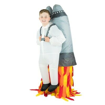 Kids Inflatable Jetpack Rocket Take Off Funny Halloween Fancy Dress Costume