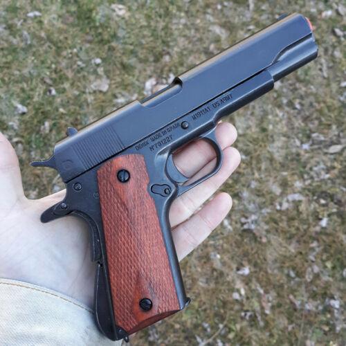 Denix M1911A1 Automatic 45 Pistol Simulated Firing/Loading Metal w/ Wood Grips