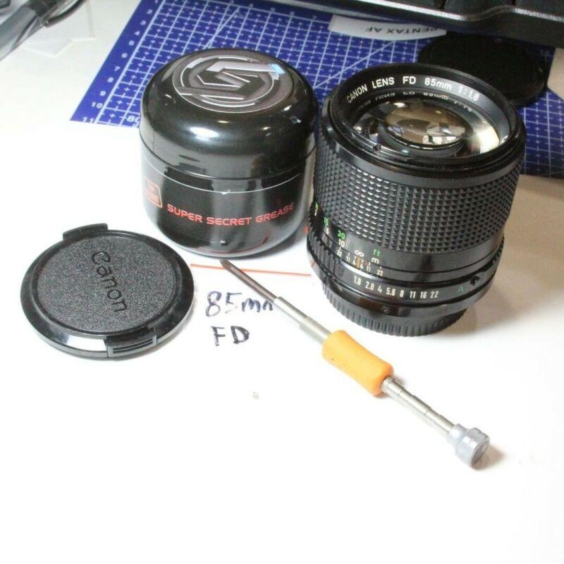 SERVICE: Cine-Mod Modified Canon FD Canon FD Cine Mod Canon Prime Lens Declicked