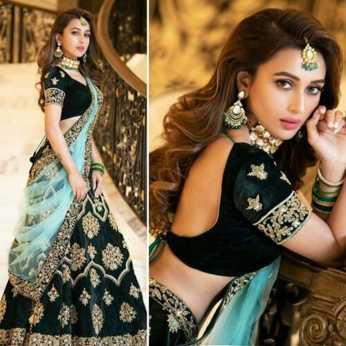 BRIDAL DESIGNER INDIAN WEDDING BOLLYWOOD WOMEN LENGHA PARTY WEAR LEHENGA CHOLI