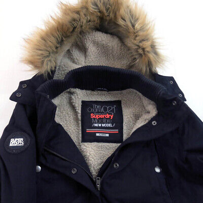 SUPERDRY Men's Parka Jacket coat size XL Hood black