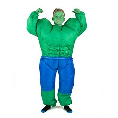 Kids Inflatable Hulk Green Monster Angry Funny Halloween Fancy Dress Costume - Childrens Monster Costumes