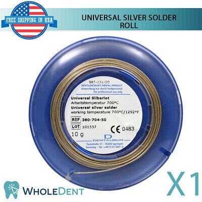 Orthodontic Dental Universal Silver Solder Roll Wire Dentaurum 10g For Bands