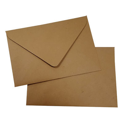 10 Kraftpapier Briefumschläge DIN B6 nassklebend Kraft braun 125x178mm 125g