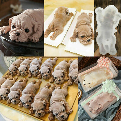 Mold Animal - Dog Silicone Mould Mousse Fondant Cake Chocolate 3D Animal Pudding Baking Mold