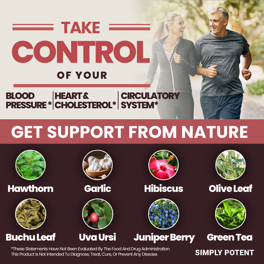 Blood Pressure Support Supplement w Hawthorn Garlic, Hibiscus for Healthy Heart 3