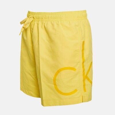 Badehose Badeshort Beachwear Swimwear Calvin Klein Herren Gelb S Neu mit Etikett