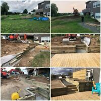 Excavating, landscape and yard maintenance
