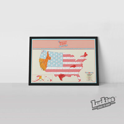 Scratch Map ® USA Travel World Map Poster by INVENTORS OF SCRATCH MAPS