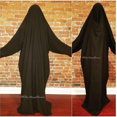 Women's A-line Style Saudi Overhead Abaya Jilbab Bisht Jalabiyah