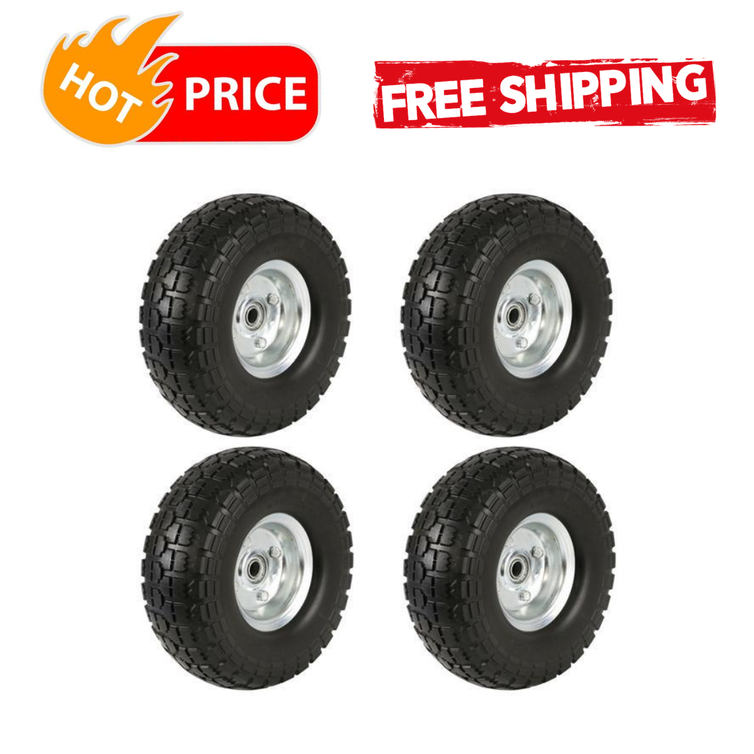 Solid Rubber Replacement 10 Inch Wheels Garden Wagons Carts